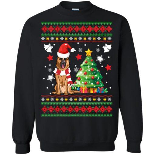 German Shepherd Christmas sweatshirt shirt - image 140 510x510