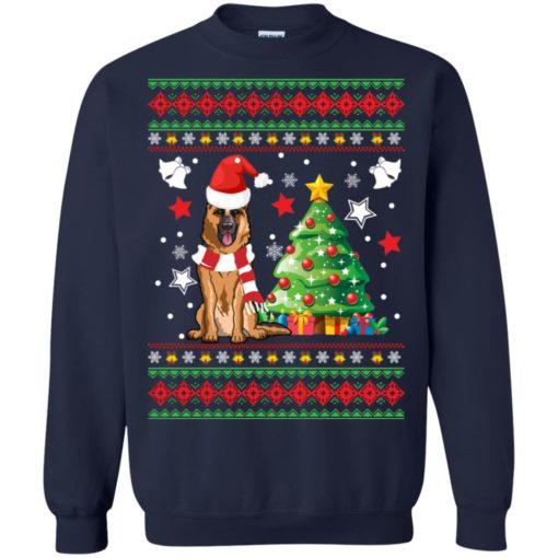 German Shepherd Christmas sweatshirt shirt - image 141 510x510