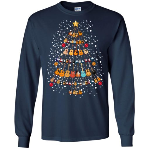 Guitar Christmas tree sweatshirt shirt - image 258 510x510