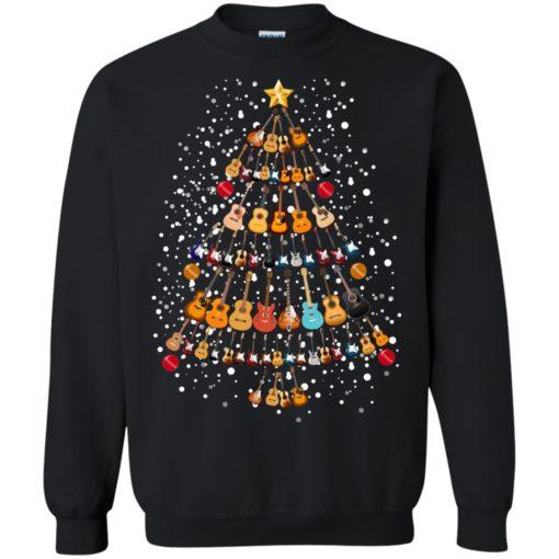 Guitar Christmas tree sweatshirt shirt - image 260 510x510