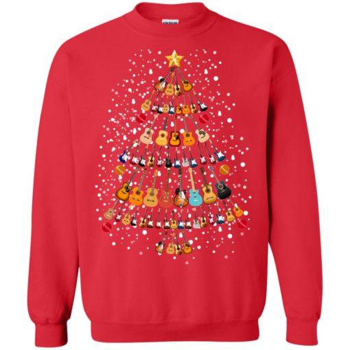 Guitar Christmas tree sweatshirt shirt - image 262 510x510