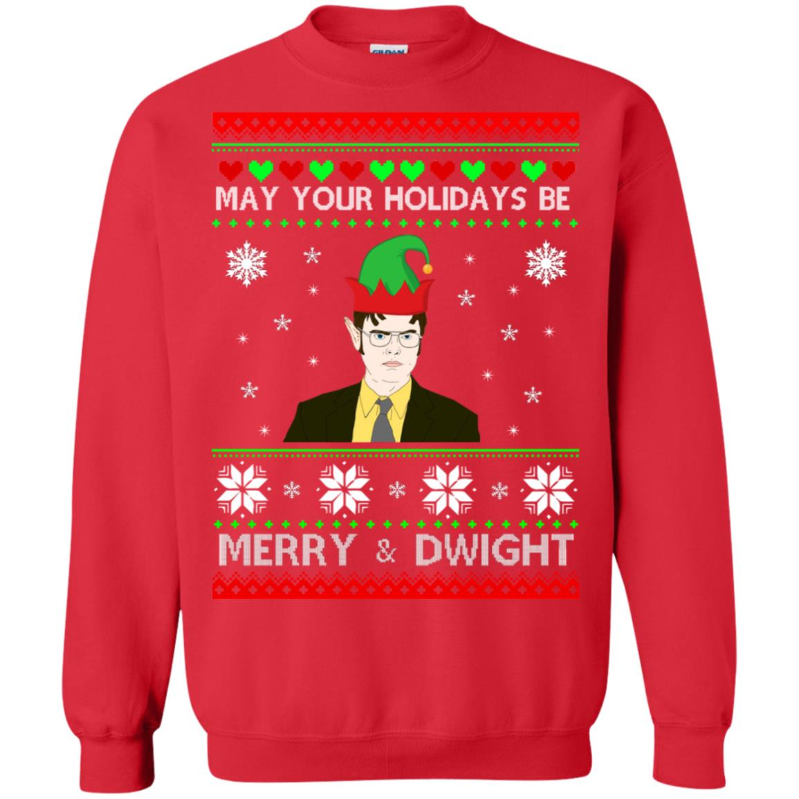 May Your Holidays Be Merry And Dwight Christmas Sweatshirt Hoodie