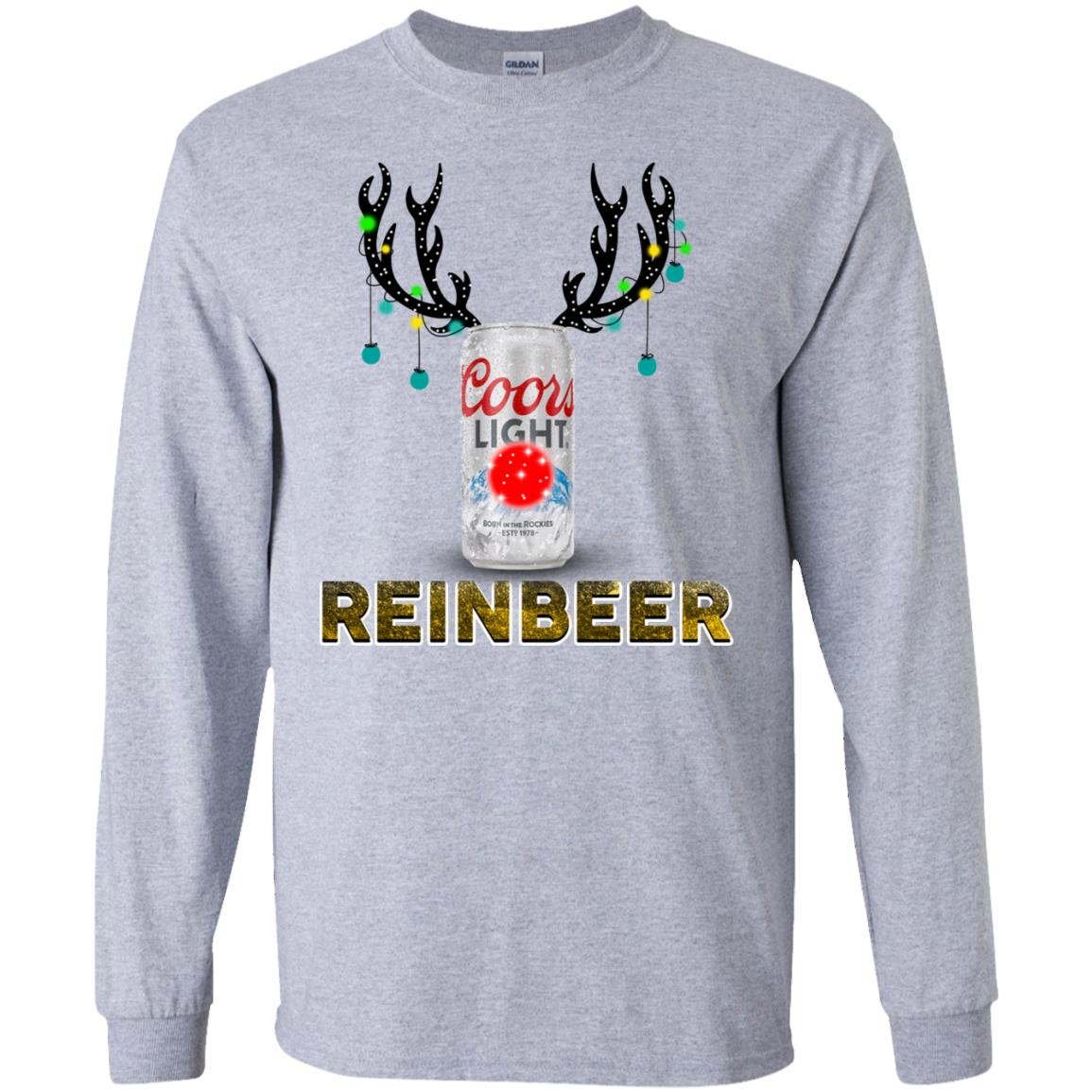 Coors Light Reinbeer Christmas Sweatshirt Hoodie Long Sleeve
