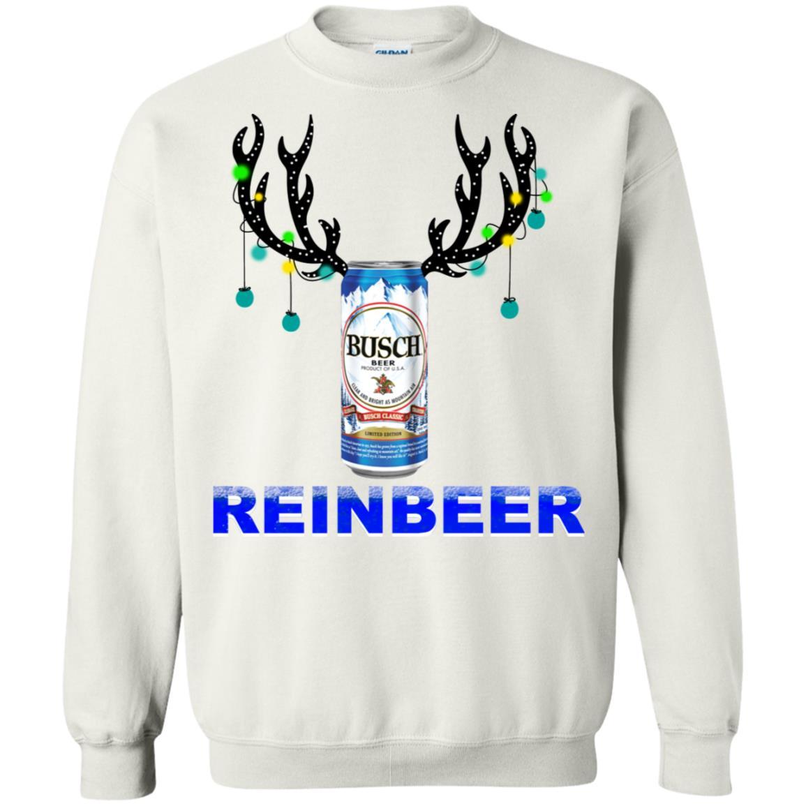 Busch Light Reinbeer Christmas Sweatshirt Hoodie Long Sleeve
