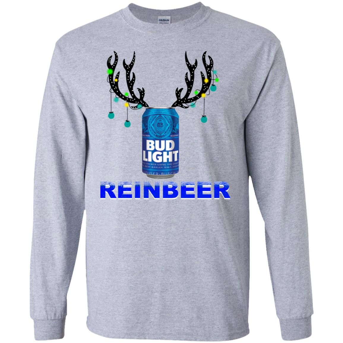 Christmas Lights Jersey: Bud Light Reinbeer Christmas Sweatshirt, Hoodie, Long