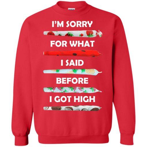 I'm sorry for what I said before I got high shirt - image 588 510x510