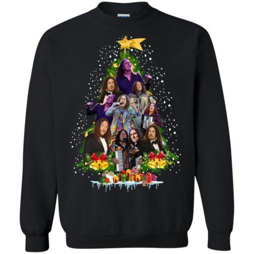 Weird Al Yankovic Christmas tree sweatshirt shirt - image 84 510x510
