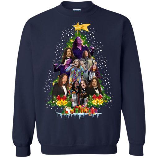 Weird Al Yankovic Christmas tree sweatshirt shirt - image 85 510x510