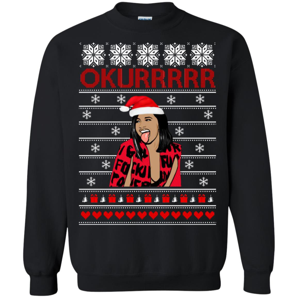Cardi B Okurrrrr Christmas Sweater T Shirt Long Sleeve Hoodie