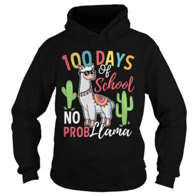 100 days of school no prob Llama shirt, hoodie shirt - 100 days school shi 400x400