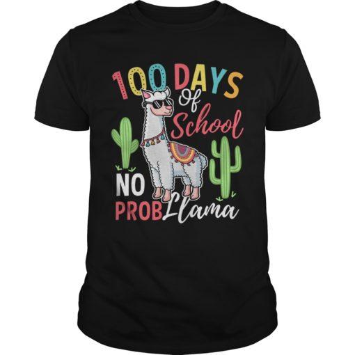 100 days of school no prob Llama shirt, hoodie shirt - 100 days school shirt 510x510