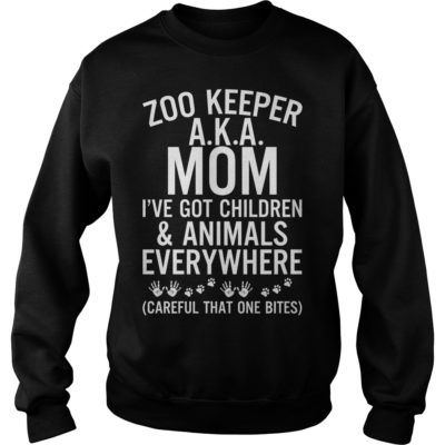 Zoo keeper aka mom i've got children and animals everywhere careful shirt shirt - Zoo keeper aka mom ive got children shirtvvvv 400x400