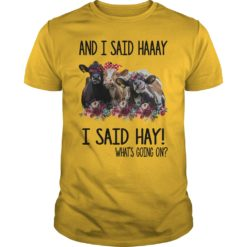 Cows and I said haaay i said hay what's going on shirt shirt - Buy now before it to late. 247x247