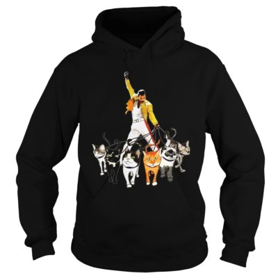 Freddie Mercury with cats shirt, hoodie shirt - Freddie Mercuryv 400x400