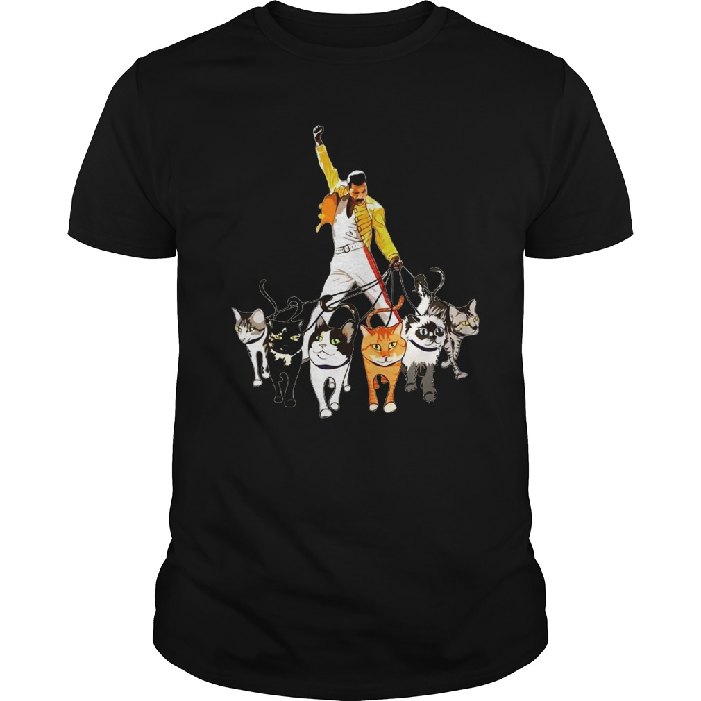 a7b5674d19cb2 Freddie Mercury with cats shirt