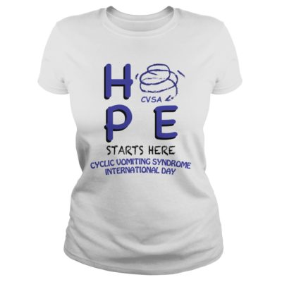 HPE CVSA starts here Cyclic Vomiting Syndrome international day shirt shirt - Hpe starts here cyclic vomiting syndrome international day shi 400x400