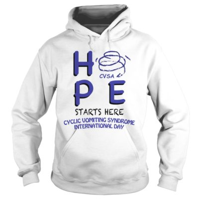 HPE CVSA starts here Cyclic Vomiting Syndrome international day shirt shirt - Hpe starts here cyclic vomiting syndrome international day shirtv 400x400
