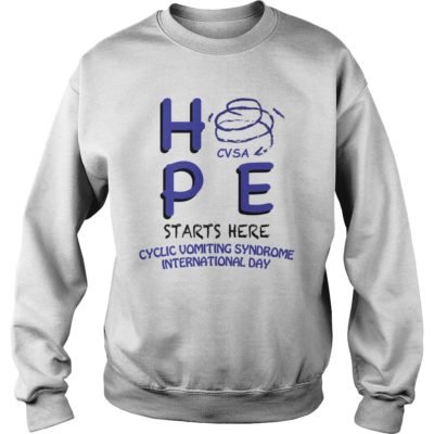 HPE CVSA starts here Cyclic Vomiting Syndrome international day shirt shirt - Hpe starts here cyclic vomiting syndrome international day shirtvvvv 400x400