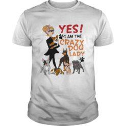 Yes i am the crazy dog lady shirt shirt - Yes i am the crazy dog lady shirt 247x247