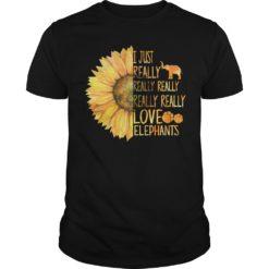 Sunflower i just really really really love Elephants shirt shirt - sunflower i just really really love elephants shirt 247x247