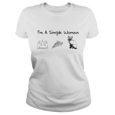 I'm a simple woman I like Game Pizza and Cat shirt shirt - 100569 1553787808220 front 400x400