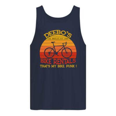 Deebo's bike rentals that's my bike punk Los Angeles est 1995 shirt shirt - Deebos los angeles est 1995 shirt men s tank top navy blue front 400x400