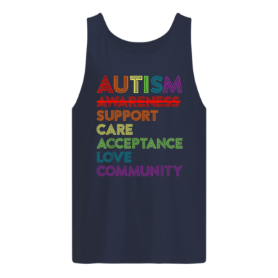 Autism awareness support care acceptance love community shirt shirt - autism awareness support shirt men s tank top navy blue front 400x400