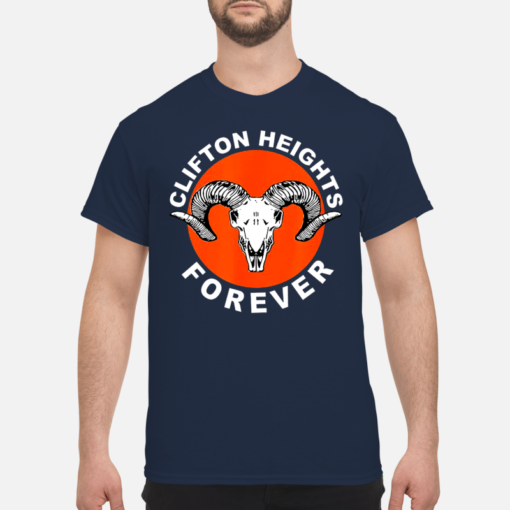 Clifton heights forever shirt, hoodie shirt - clifton heights shirt men s t shirt navy blue front 1 510x510