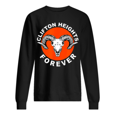Clifton heights forever shirt, hoodie shirt - clifton heights shirt unisex sweatshirt jet black front 400x400