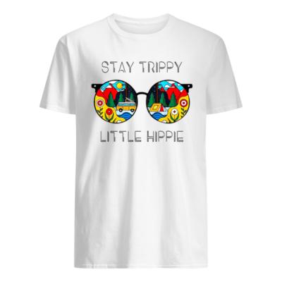 Stay Trippy Little Hippie camping shirt shirt - stay trippy little hippie glasses shirt hippie camping shirt men s t shirt white front 400x400
