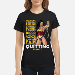 Wonder Woman crawling is acceptable falling is acceptable shirt shirt - wonder crawling is acceptable falling is acceptable shirt women s t shirt black front 1 247x247