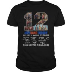 12 The Big Bang Theory thank you for the memories shirt shirt - 12 the big bang theory thank you for the memories shirt 247x247