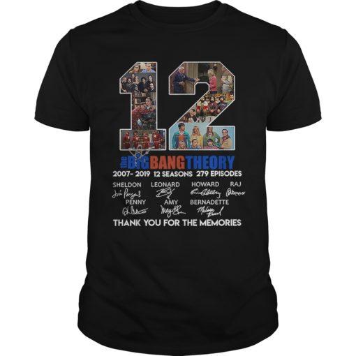 12 The Big Bang Theory thank you for the memories shirt shirt - 12 the big bang theory thank you for the memories shirt 510x510