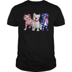 Three Pitbull America flag shirt, hoodie shirt - Three Pitbull America flag. 247x247