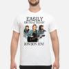Easily distracted by Jon Bon Jovi shirt shirt - easily distracte by jon bon jovi shirt men s t shirt white front 1 100x100