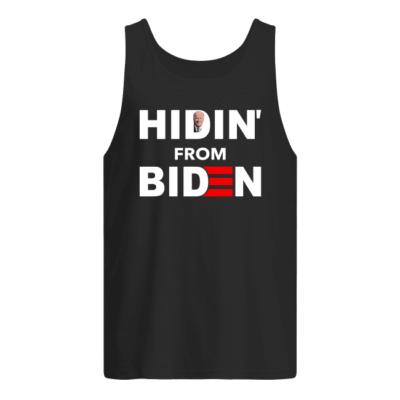 Hidin from Biden shirt, hoodie shirt - hidin from biden shirt men s tank top black front 400x400