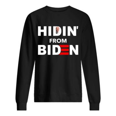 Hidin from Biden shirt, hoodie shirt - hidin from biden shirt unisex sweatshirt jet black front 400x400