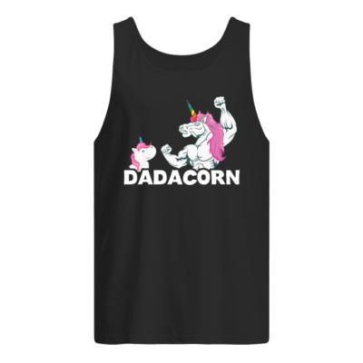 Unicorn Dadacorn shirt, hoodie shirt - unicorn dadacor shirt men s tank top black front 400x400