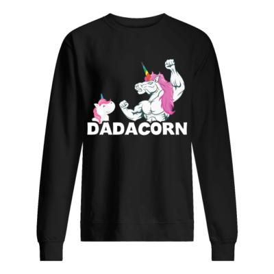 Unicorn Dadacorn shirt, hoodie shirt - unicorn dadacor shirt unisex sweatshirt jet black front 400x400