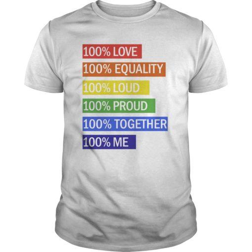 100% Love 100% equality 100% loud 100% proud shirt shirt - 100 Love 100 equality 100 loud 100 proud shirt 510x510