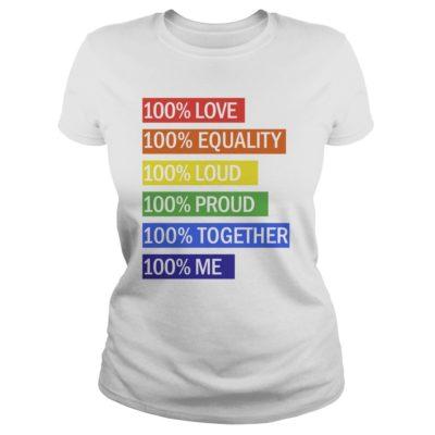 100% Love 100% equality 100% loud 100% proud shirt shirt - 100 Love 100 equality 100 loud 100 proud shirtv 400x400