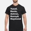 Alien United States space force shirt shirt - yusef kevin antron korey and raymond shirt hoodie men s t shirt black front 1 100x100