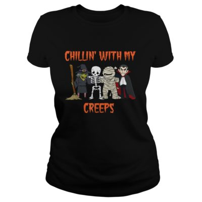 Chillin With My Creeps Vampire Halloween Skeleton Witch shirt shirt - This shirt so funny for Halloween coming soon. If you are looking for a new shirt for Halloweenv 400x400