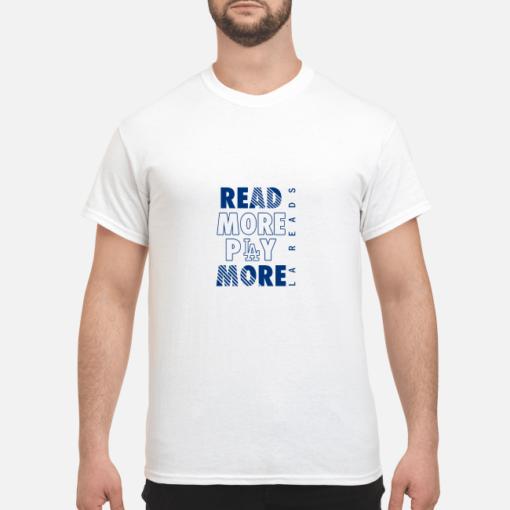 Read more play more Dodgers shirt shirt - read more play more dodgers shirt men s t shirt white front 1 510x510