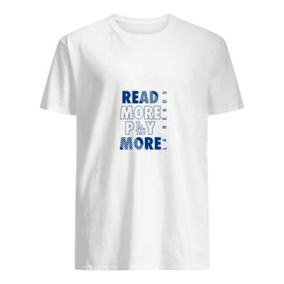 Read more play more Dodgers shirt shirt - read more play more dodgers shirt men s t shirt white front 400x400