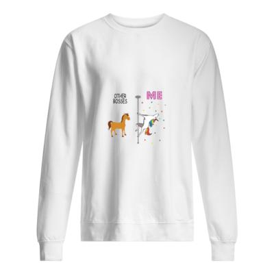 Unicorn Other Bosses Me shirt shirt - unicorn other bosses me shirt unisex sweatshirt arctic white front 400x400