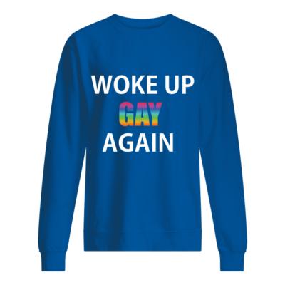 Woke Up Gay Again LGBT shirt shirt - woke up gay again lgbt shirt unisex sweatshirt royal front 400x400