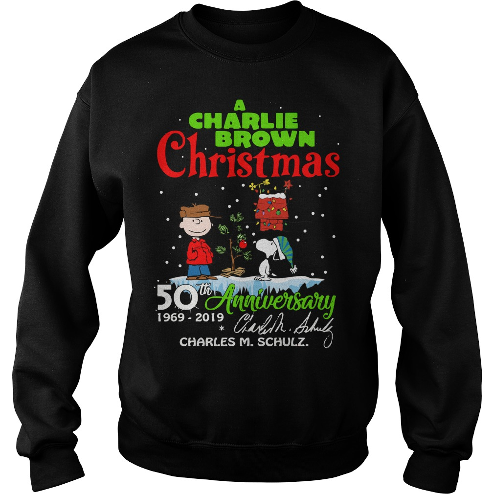 Charlie Brown Christmas 50th.A Charlie Brown Christmas 50th Anniversary 1969 2019 Signature Sweatshirt