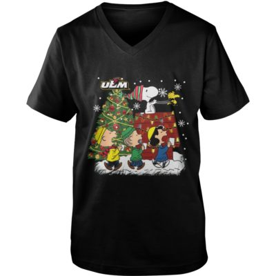 Louisiana Monroe Warhawks Snoopy and friends Christmas sweater shirt - Snoo 400x400