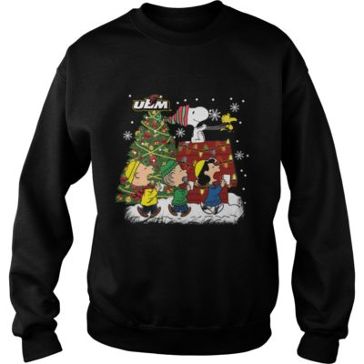 Louisiana Monroe Warhawks Snoopy and friends Christmas sweater shirt - Snoopyvvv 400x400